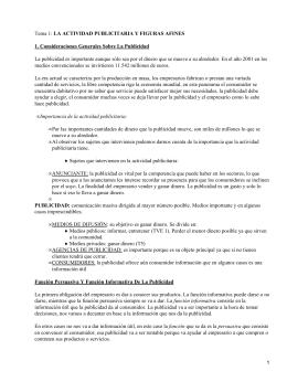 LA ACTIVIDAD PUBLICITARIA Y FIGURAS AFINES