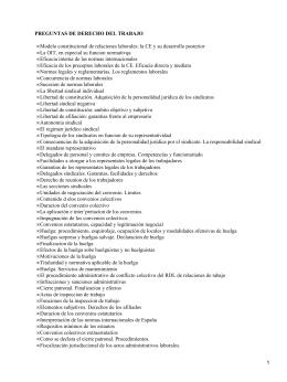 PREGUNTAS DE DERECHO DEL TRABAJO •