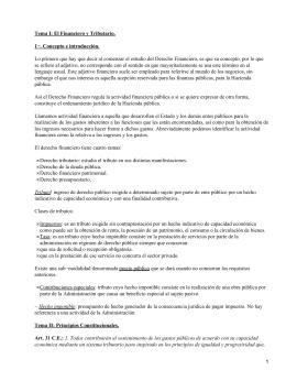 Tema I: El Financiero y Tributario. 1−. Concepto e introducción.