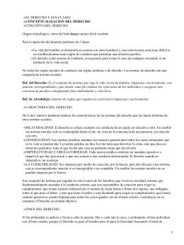 EL DERECHO Y SUS CLASES CONCEPTO DEL DERECHO ius
