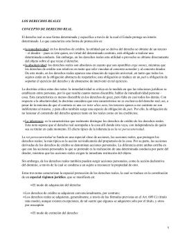 LOS DERECHOS REALES CONCEPTO DE DERECHO REAL.