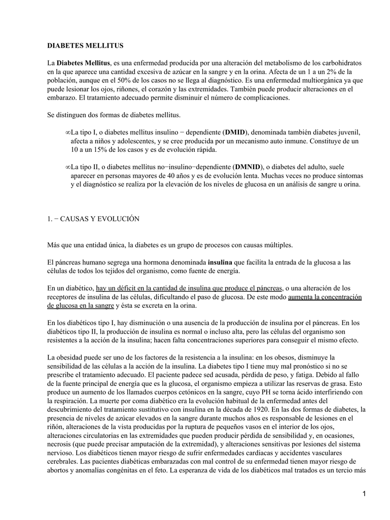 definición de cetona diabetes mellitus