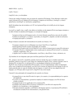 Didáctica de la lengua extranjera II