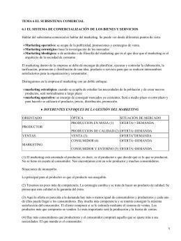 TEMA 6 EL SUBSISTEMA COMERCIAL