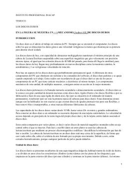 INSTITUTO PROFESIONAL INACAP TEMUCO LOS DISCOS DUROS