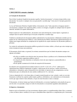 Documento, registro y archivo: concepto y descripción