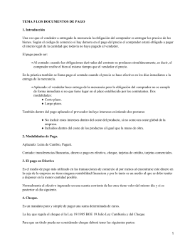 Documentos de pago