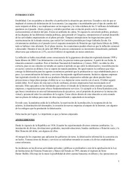 Dolarización en Ecuador