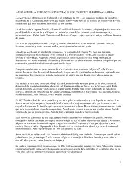 JOSÉ ZORRILLA. CIRCUNSTANCIAS EN LAS QUE SE ESCRIBE Y SE... José Zorrilla del Moral nació en Valladolid el 21 de... •