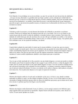 DON QUIJOTE DE LA MANCHA, I Capítulo I :