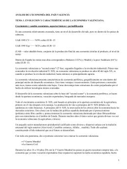 Economía del País Valenciano