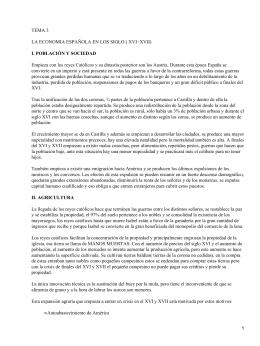 Economía española de los Siglos XVI y XVII