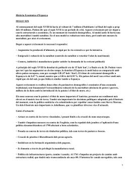 Economía española en el siglo XIX y XX
