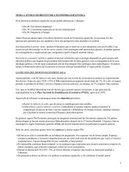 TEMA 1: EVOLUCIÓ RECENT DE L'ECONOMIA ESPANYOLA Els 60: Fort desenvolupament