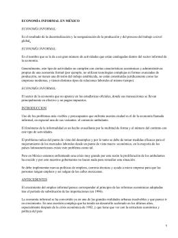 Economía informal en México