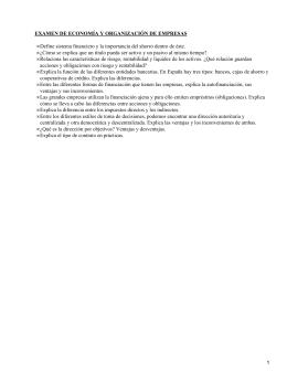 EXAMEN DE ECONOMÍA Y ORGANIZACIÓN DE EMPRESAS •