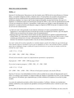 PRÁCTICAS DE ECONOMÍA TEMA − 1