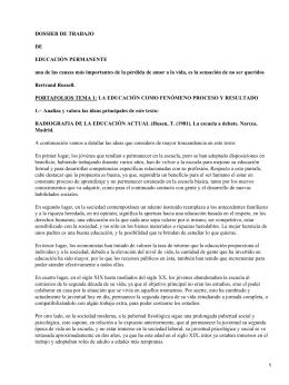 DOSSIER DE TRABAJO DE EDUCACIÓN PERMANENTE