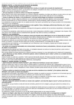 GUÍA DE LECTURA: EL ÁRBOL DE LA CIENCIA, PÍO BAROJA...