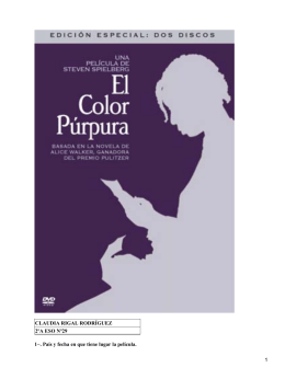 El color purpura; Steven Spielberg