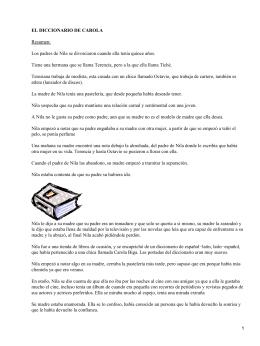 El diccionario de Carola; Carmen Gómez Ojea