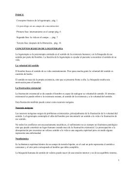 ÍNDICE · Conceptos básicos de la logoterapia.. pág. 1