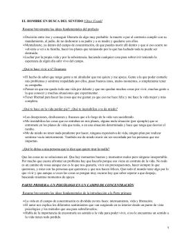 EL HOMBRE EN BUSCA DEL SENTIDO •