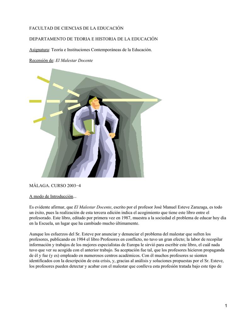 El malestar docente; José M. Esteve