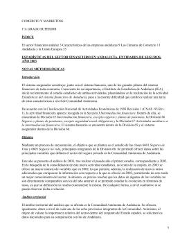 El sector financiero y la empresa andaluza