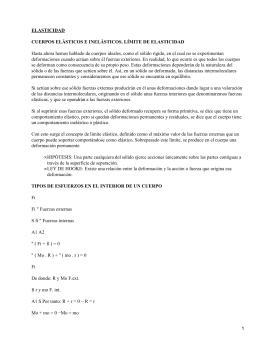 ELASTICIDAD CUERPOS ELÁSTICOS E INELÁSTICOS. LÍMITE DE ELASTICIDAD