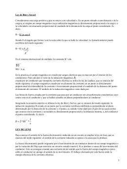 Electromagnetismo: Ley de Biot y Savart