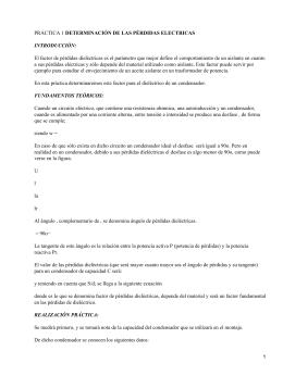 DETERMINACIÓN DE LAS PÉRDIDAS ELECTRICAS INTRODUCCIÓN: