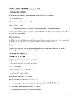 Empresarios y profesionales en el IRPF (Impuesto sobre la Renta de las Personas Físicas)