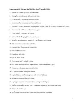 Primer parcial de EnfermerÃ-a Médico−Quirúrgica 2005/2006