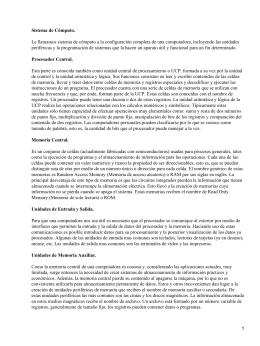 Sistema de Cómputo.