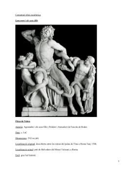 Comentari obra escultòrica Laocoont i els seus fills Fitxa de l'obra