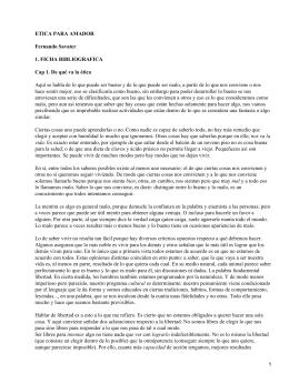 ETICA PARA AMADOR Fernando Savater 1. FICHA BIBLIOGRAFICA