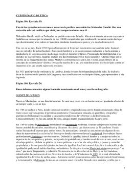 CUESTIONARIO DE ÉTICA Página 106. Ejercicio 19:
