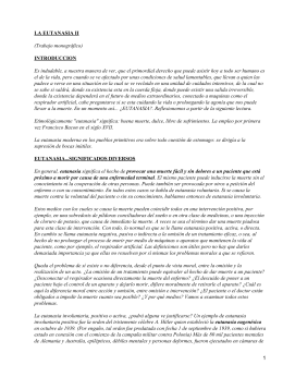 LA EUTANASIA II INTRODUCCION (Trabajo monográfico)