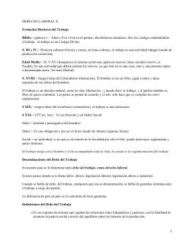 Evolución del Derecho del Trabajo en México