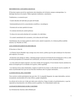 MOVIMIENTOS Y ESTADOS FASCISTAS