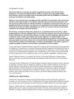 I N T R O D U C C I... Dentro del mundo de los contratos mercantiles, la legislación mexicana,... legislaciones, en ocaciones ha adoptado figuras jurídicas extranjeras que se...