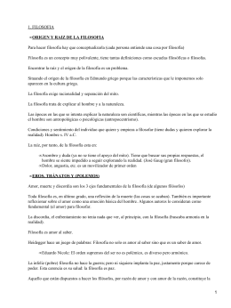 1. FILOSOFIA ORIGEN Y RAIZ DE LA FILOSOFIA •