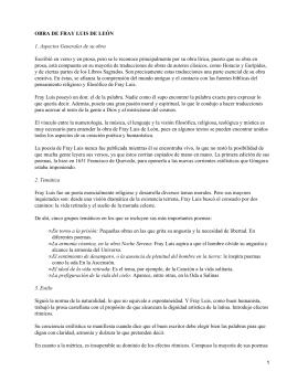OBRA DE FRAY LUIS DE LEÓN