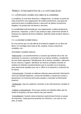 TEMA 2: FUNDAMENTOS DE LA CONTABILIDAD