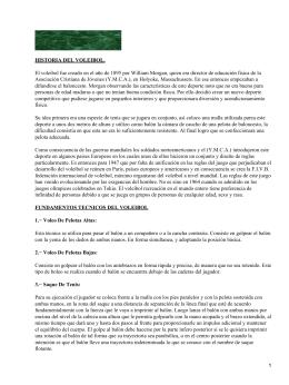 Fundamentos técnicos y reglamento de voleibol