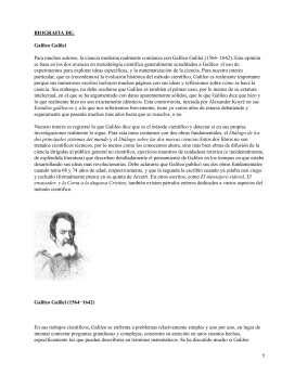 BIOGRAFIA DE: Galileo Galilei