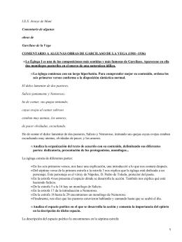 I.E.S. Arenys de Munt Comentario de algunas obras de Garcilaso de la Vega