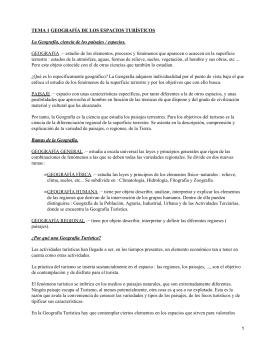 Geografía turística general y de España