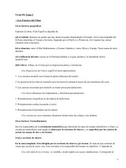 Geografia Tema 4 −>Los Factores del Clima 1)Los factores geograficos a)La Latitud: